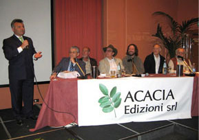 Image of panel speakers at Milan conference