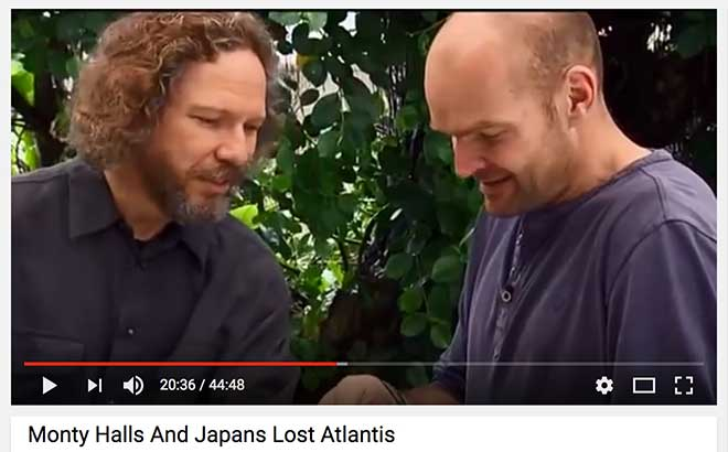 Screen capture from Monty Halls' documentary, Japan's Lost Atlantis
