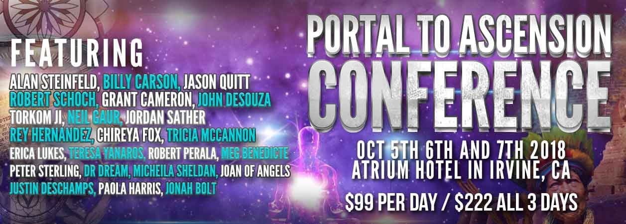 Banner for the Portal to Ascension Conference in 2018