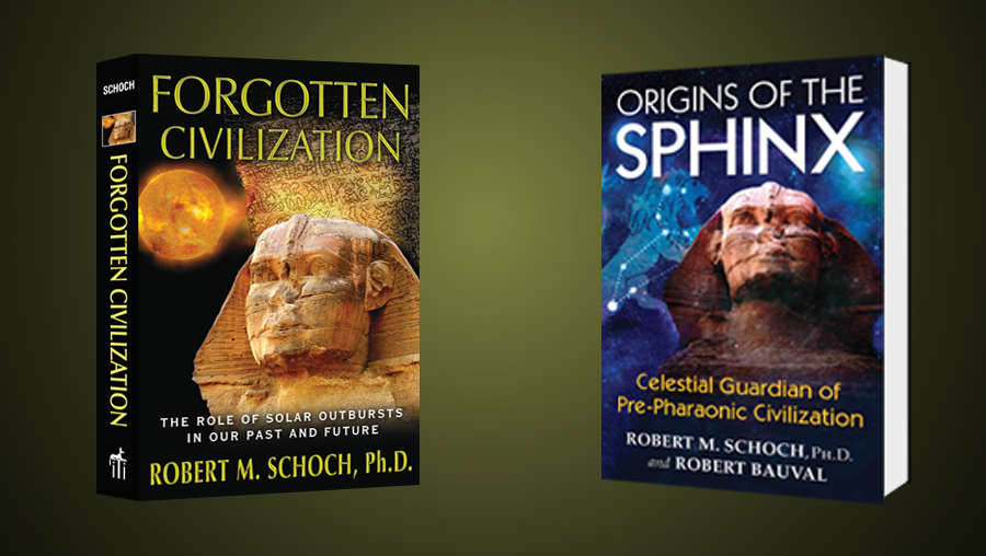 Small banner for two important books by Robert Schoch
