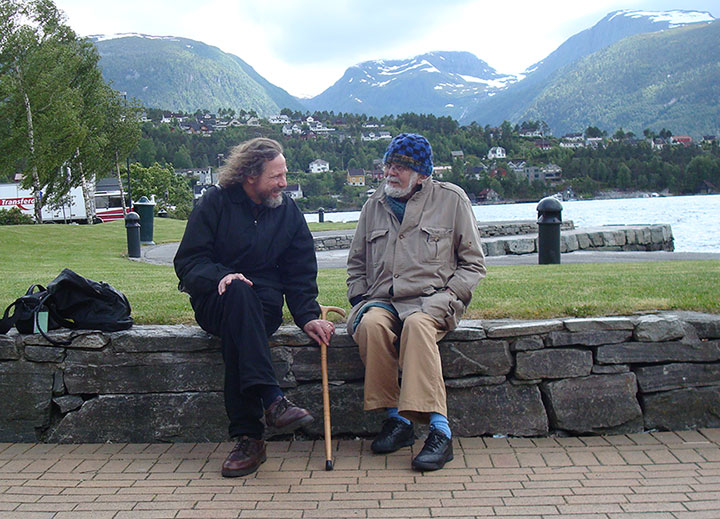 Robert Schoch and John Anthony West together in Norway