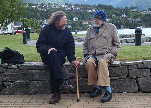 Picture of Robert Schoch and John Anthony West together in Sandane, Norway