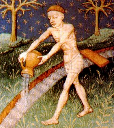 Illustration of Aquarius, c. 1440-1450