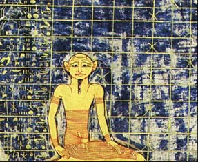 Image from the Tomb of Ramses IX depicting man among the stars
