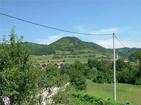 Image of the so-called Bosnian Pyramid of the Moon