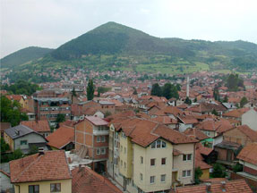 Image of Visoco, Bosnia, with the so-called Pyramid of the Sun in the background