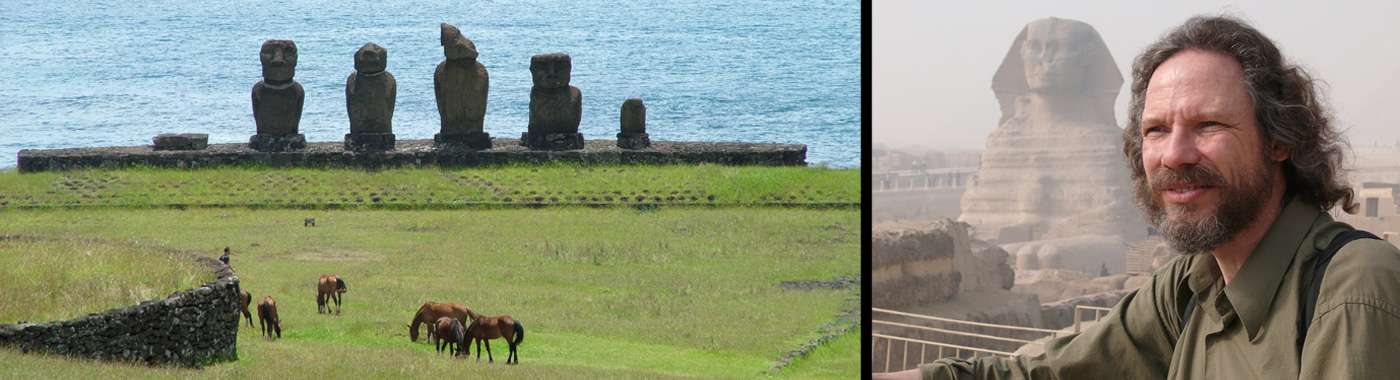 Banner image for the Easter Island page of Robert Schoch's website
