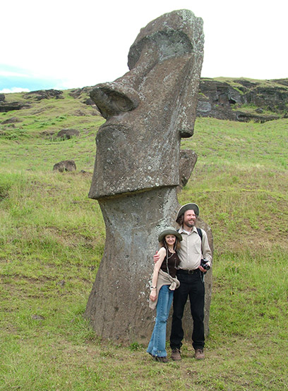 Image of Robert Schoch and Katie Ulissey on Easter Island