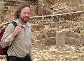 Image taken in 2010 of Robert Schoch at Göbekli Tepe in Turkey