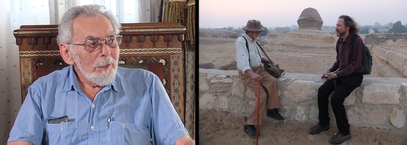 John Anthony West and Robert Schoch together in Egypt in 2017