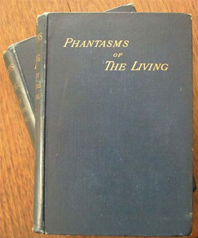 Image of the original two-volume edition of Phantasms of the Living