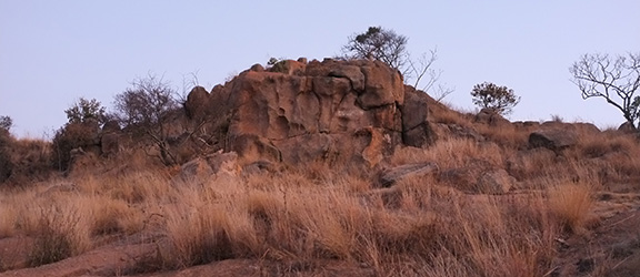 Image of an outcropping of rock in South Africa