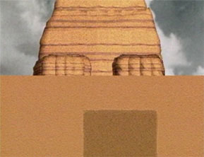 Screen capture illustration from the documentary The Mystery of the Sphinx   					showing the chamber beneath