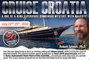 Advertisement for Croatia Cruise with Robert Schoch in 2018