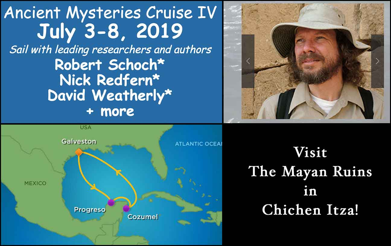 Advertisement for Chichen Itza Cruise with Robert Schoch in 2019